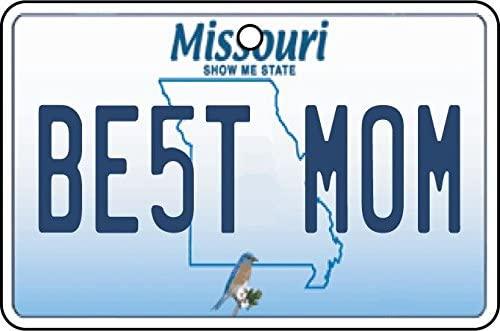 Missouri - Best Mom License Plate Car Air Freshener