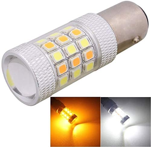 Car Bulbs MZ 1157 8W 420LM White + Yellow Light 42 LED 2835 SMD Car Brake Light Steering Light Bulb, DC 12V