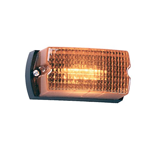Federal Signal LP1-024A Streamline Low Profile Mini Strobe Light, Surface Mount, 24 VDC, Amber