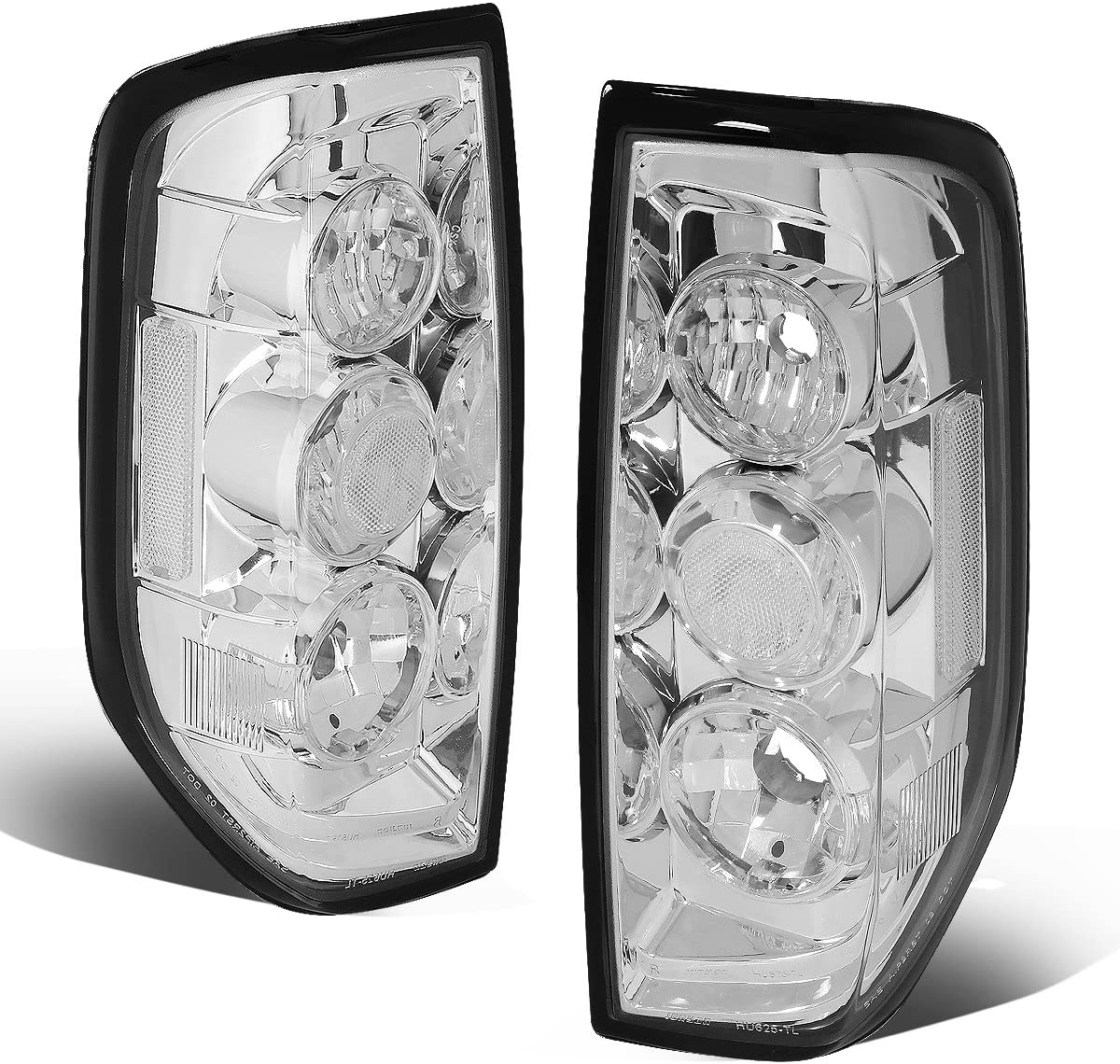 DNA Motoring CLOSE-TLC-FRTR-0506 Chrome Altezza Style Tail Light [For 05-14 Nissan Frontier]