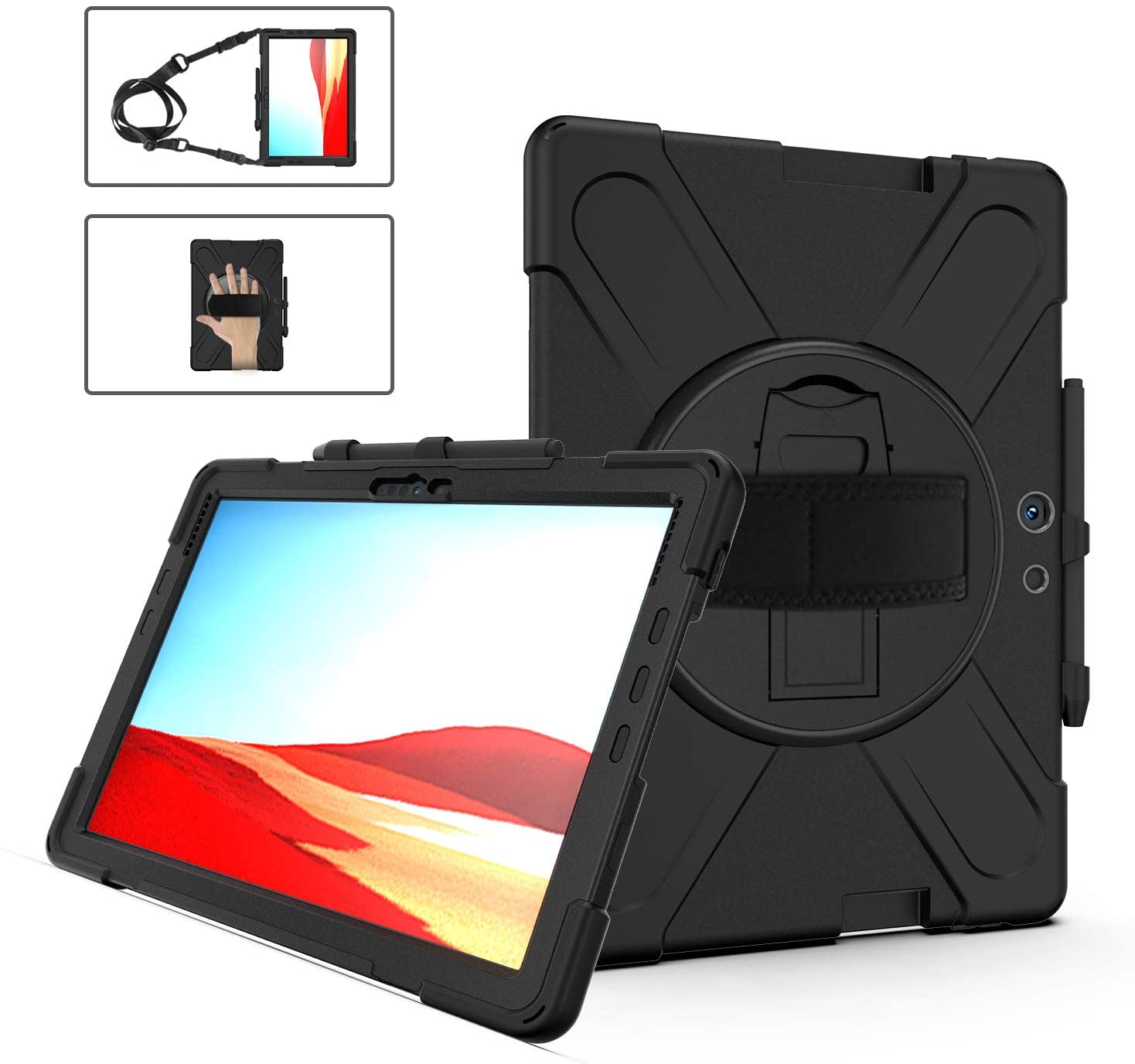 """Surface Pro X Case with Pencil Holder 