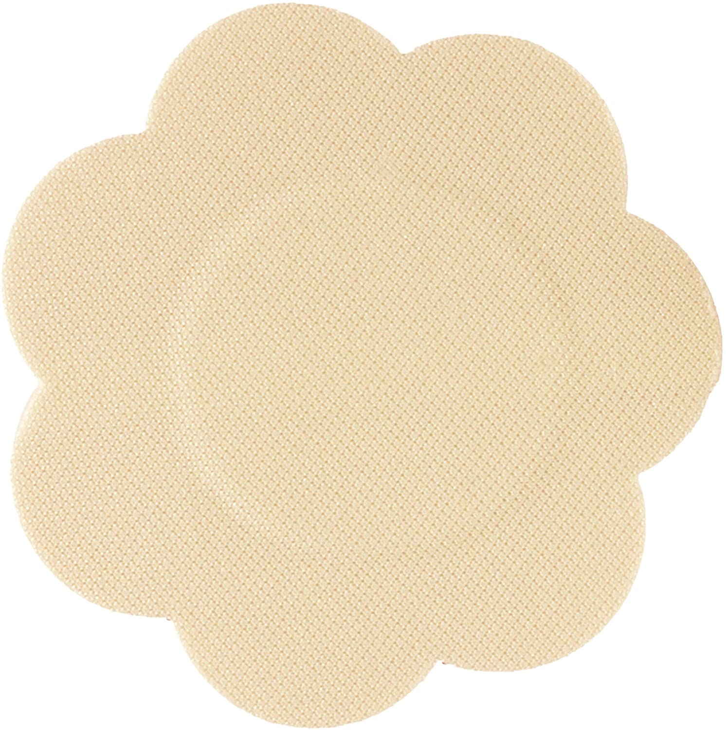 Braza Disposable Petal Tops Adhesive Nipple Covers - 15 Pair - Beige