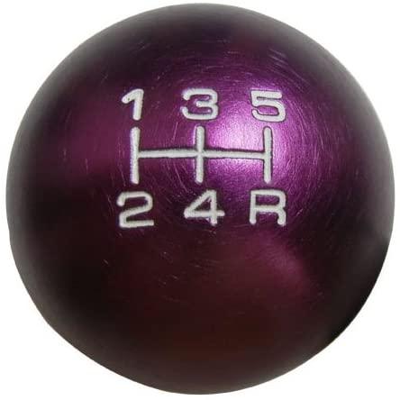 10x1.5mm Thread 5 speed Shift Knob in Purple Round Billet Aluminum for Acura Integra RSX DC2 DC5 002 03 04 05 06 2002 2003 2004 2005 2006