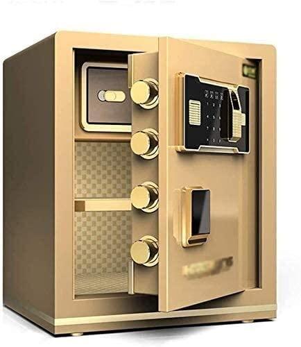 Safes Home Safe Digital Safe Safes for Home Electronic Home Safe with Medium Home Office Small Fingerprint Password Safe 45cm All-Steel Safe Deposit Box (Color : Gold, Size : 383345cm)