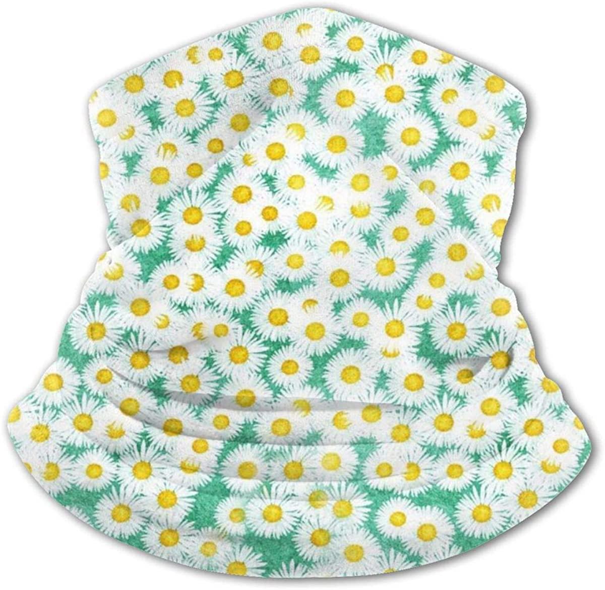 Bellis Perennis Field Headwear For Girls And Boys, Head Wrap, Neck Gaiter, Headband, Tenn Fishing Mask, Magic Scarf, Tube Mask, Face Bandana Mask For Camping Running Cycling