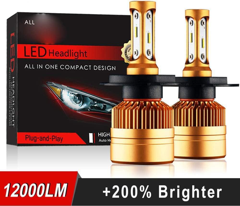 2Pcs H4 LED H7 H11 H8 9006 HB4 H1 H3 HB3 H9 H27 Car Headlight Bulbs LED Lamp with 1515 Chips 12000LM Auto Fog Lights 6000K 12V White H9