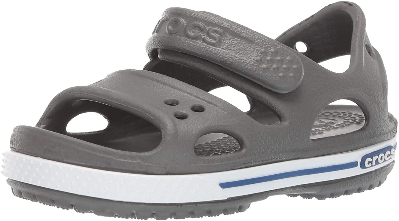 Crocs Kids' Crocband II Sandal | Water Shoes | Slip On Shoes for Boys and Girls, Slate Grey/Blue, 13 US Little Kid