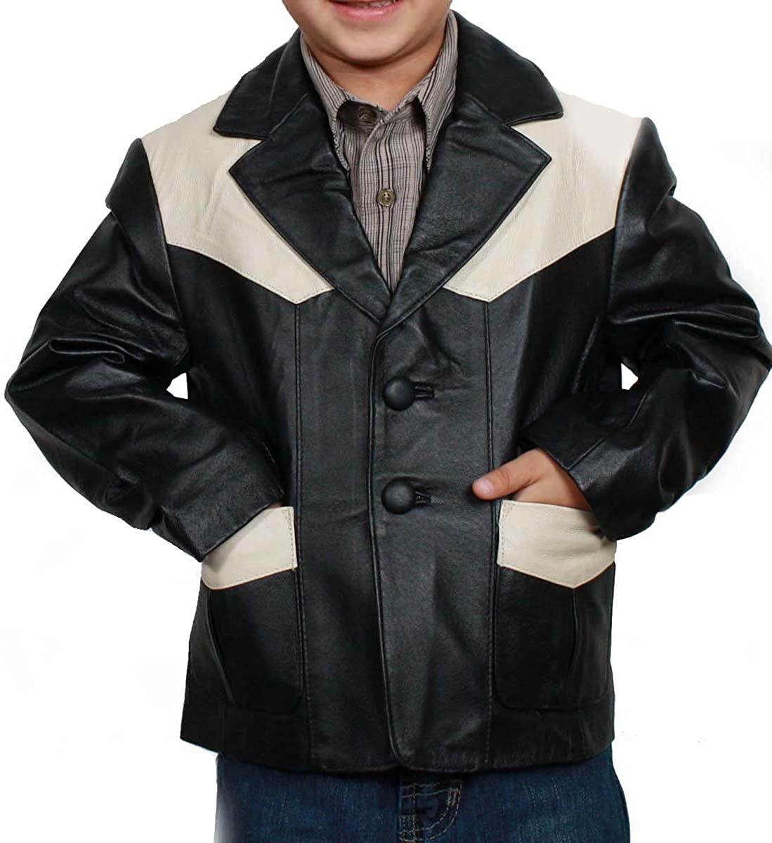 Kids Sports Blazer Western Style Black/Beige