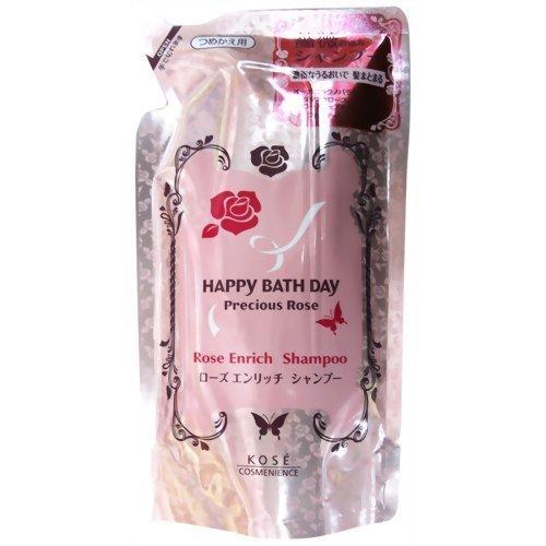 KOSE Happy Bath Day | Hair Shampoo | Precious Rose Enrich Shampoo Refill 240ml