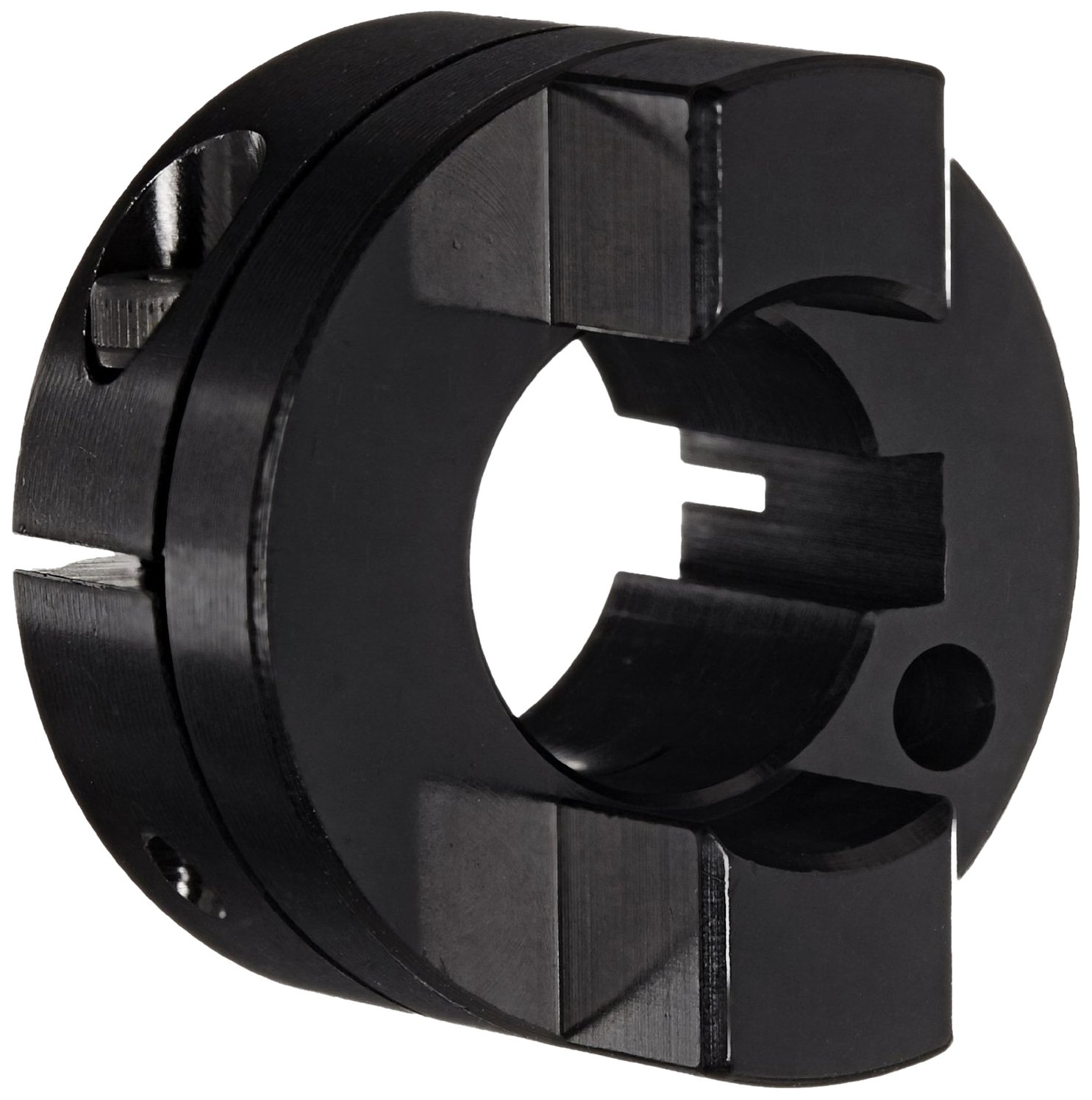 Ruland OCT21-10-A Oldham Coupling Hub, Clamp Style, Black Anodized Aluminum.625 Bore, 1-5/16 OD, 1-7/8 Length
