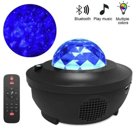 DLGGO Star Projector, LED Ocean Wave Projector, Starry Sky Night Light Nebula Cloud, Galaxy Projector, Blissful 10 Lighting Modes Music Player Bluetooth USB Voice Control for Game Rooms/Home