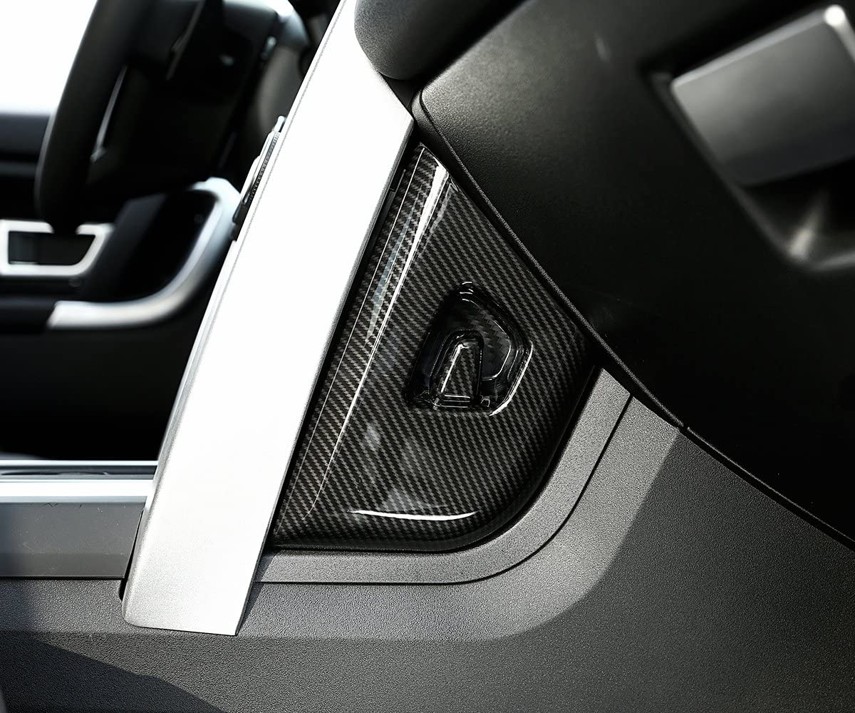 TongSheng Carbon Fiber Center Console Side Decoration Panel Cover Trim 2pcs for Land Rover Discovery Sport 2015-2017