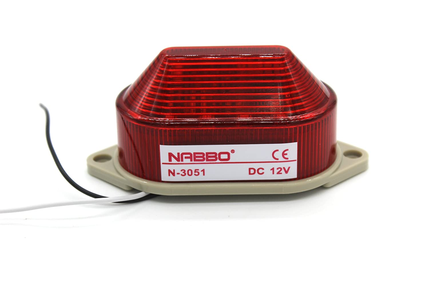 Industrial DC 12V Red LED Warning Light Bulb Signal Tower Lamp N-3051 Steady Flash