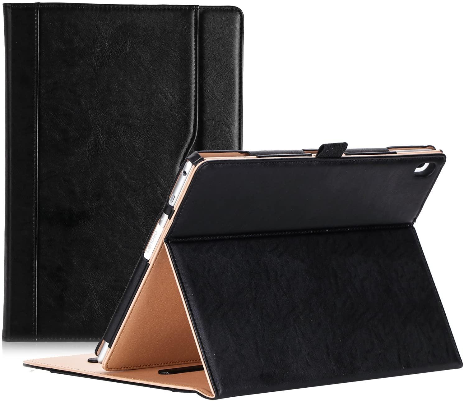 ProCase Lenovo Tab 4 10 Case - Stand Folio Case Protective Cover for Lenovo Tab 4 Tablet 10.1 Inch 2017 Release ZA2J0007US -Black
