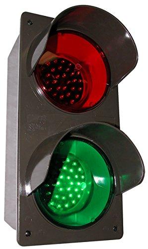 Vert Traffic Signal, Red/Grn, 3-7/8 x7 x14