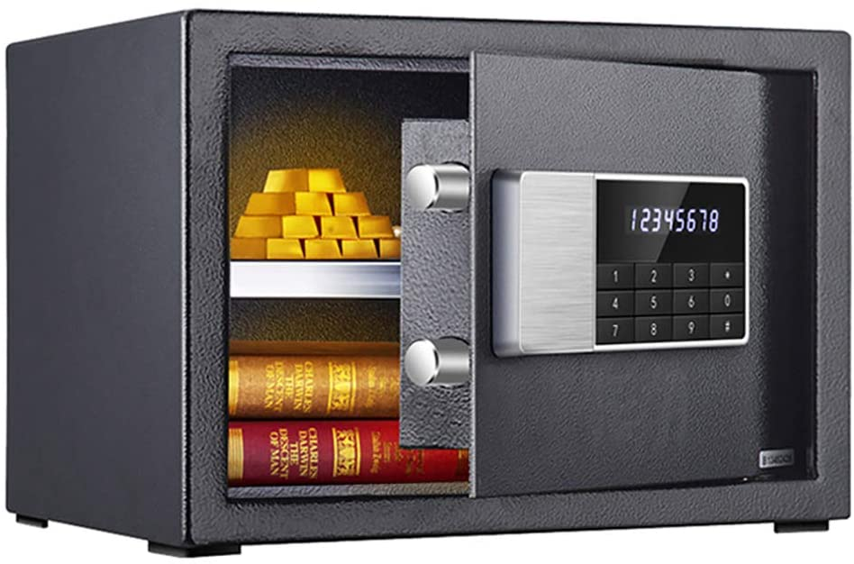 Home Safe Box, Electronic Safe Box, All-Steel Structure, Plastic Spraying, Anti-Theft And Tamper-Proof, Solid Lock Bolt, into The Wall into The Cabinet, Brushed Metal Panel