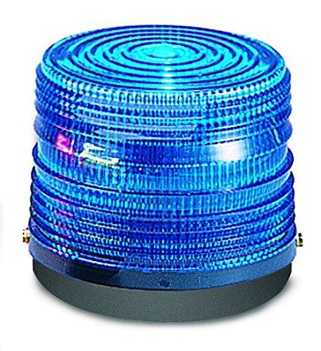 Federal Signal 141ST-120B Electra Flash Strobe Warning Light, Single Flash, Surface or Pipe Mount, 120 VAC, Blue