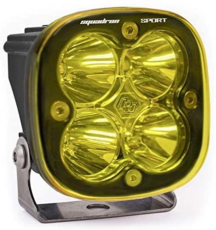 Baja Designs 550011 LED Light Pod Spot Pattern (Clear Amber Black Squadron Sport)