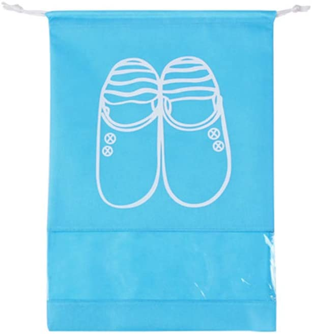 AKDSteel Portable Large Capacity Waterproof Drawstring Shoes Bag for Travel Storage Sky Blue Large for Home