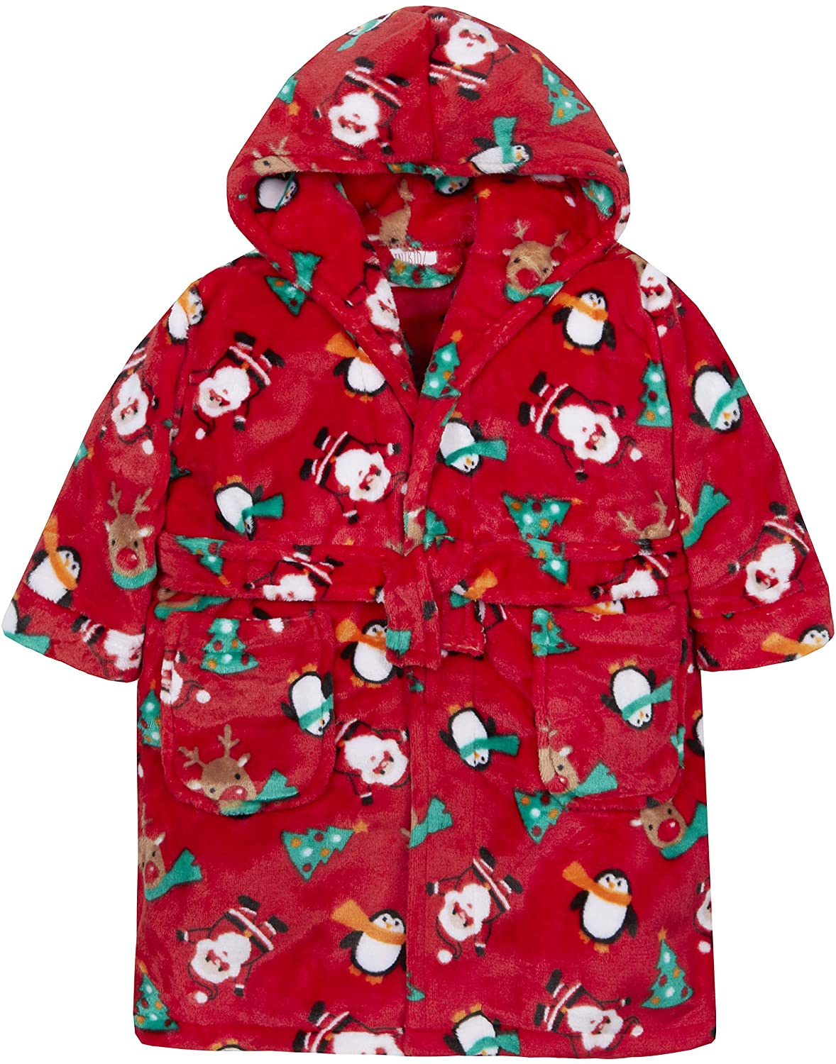 Metzuyan Boys & Girls Christmas Novelty Hooded Dressing Gown