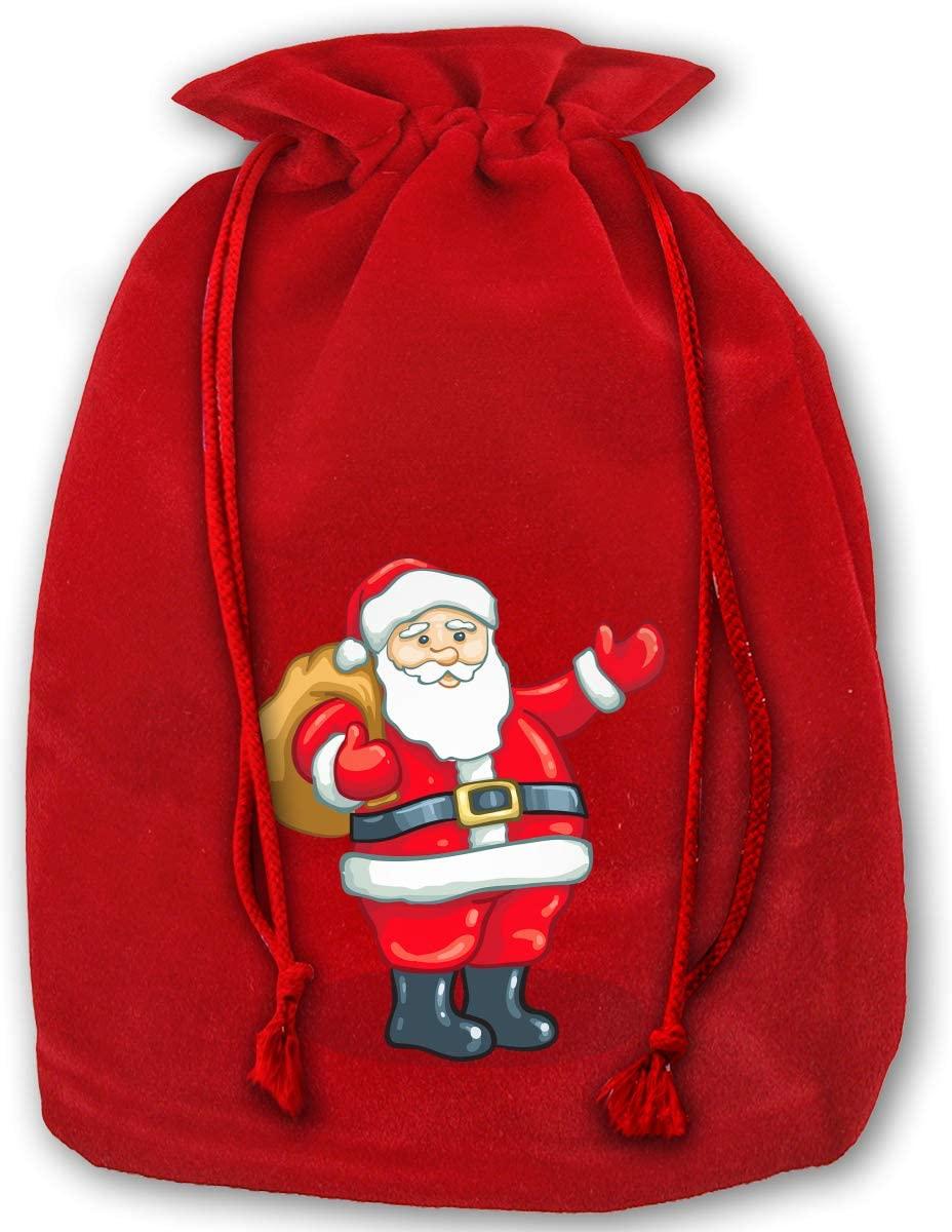 Christmas Drawstring Gift Bag Hellow Santa Claus Pouches Party Wedding Favor Seashell Chocolates Gift Bags