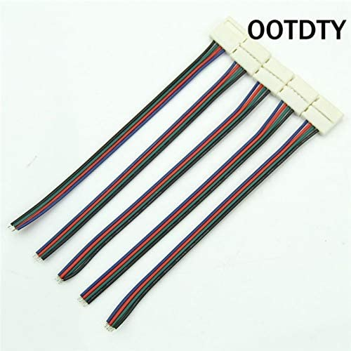 Davitu Electrical Equipments Supplies - OOTDTY 5pcs/lot RGBW Connector, LED Strip Connectors Adapter Cable12mm 4 Pin PCB for 5050 RGB - (Package: 5PCS)