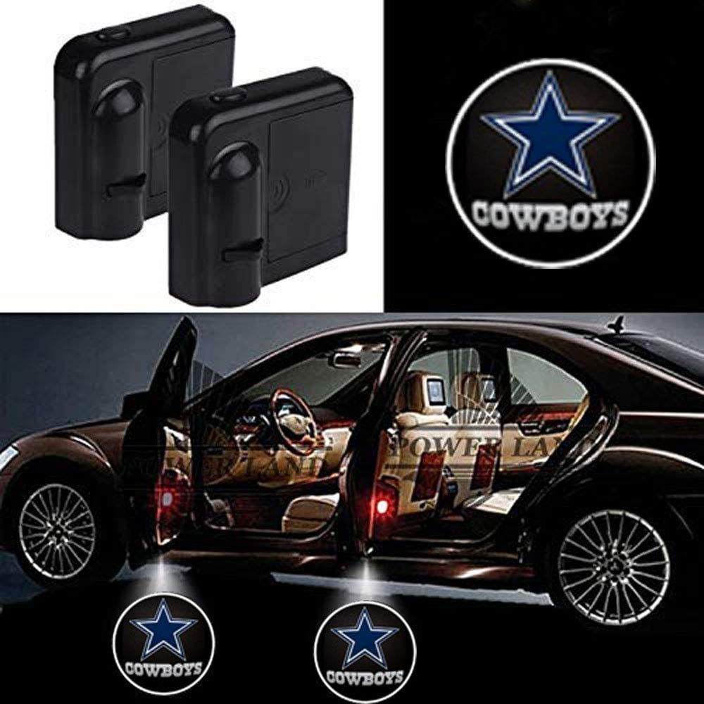 For Fit Dallas Cowboys Car Door Led Welcome Laser Projector Car Door Courtesy Light Suitable Fit for all brands of cars (Fit Dallas Cowboys)