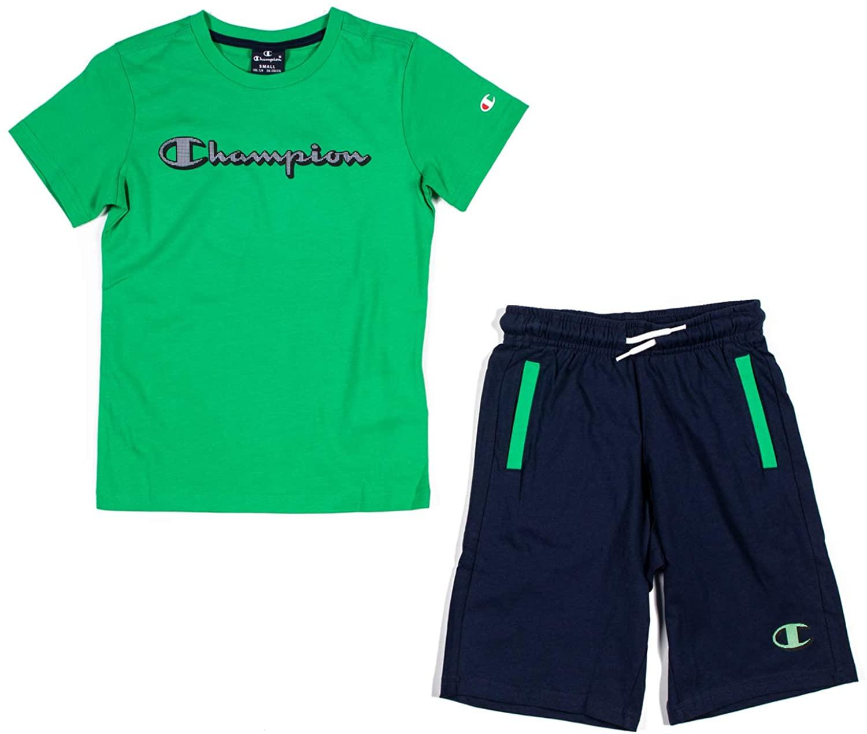 Champion Kids Boy Clothing Set Training Tshirt Short Sports Fashion 305216-GS004