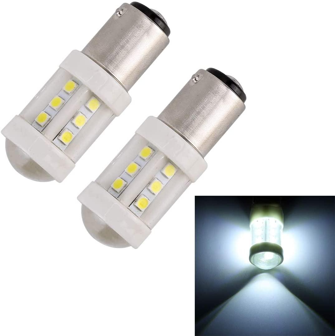 Car Bulbs 2 PCS 1157 / BAY15D 4.5W DC 12V 6000K 360LM Car Auto Ceramics Brake Lights 18LEDs SMD-3030 Lamps, with Projector Lens