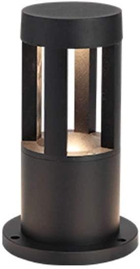 Pcqre IP55 Cylinder Warm Light Landscape Light Modern Waterproof Column Lamp Outside Die-cast Aluminum Post Light Villa Garden Lighting Stake Lamp Outdoor Lawn Pillar Lamp (Size : Height-26cm)