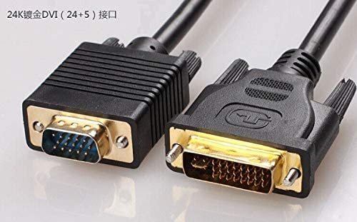 Cables DVI-I (24+5) DVI to VGA D-SUB 15PIN Male to Male Adapter Connector Cable 0.3m / 1.5m / 3m / 5m for Discrete Graphics to Display - (Cable Length: 3m)