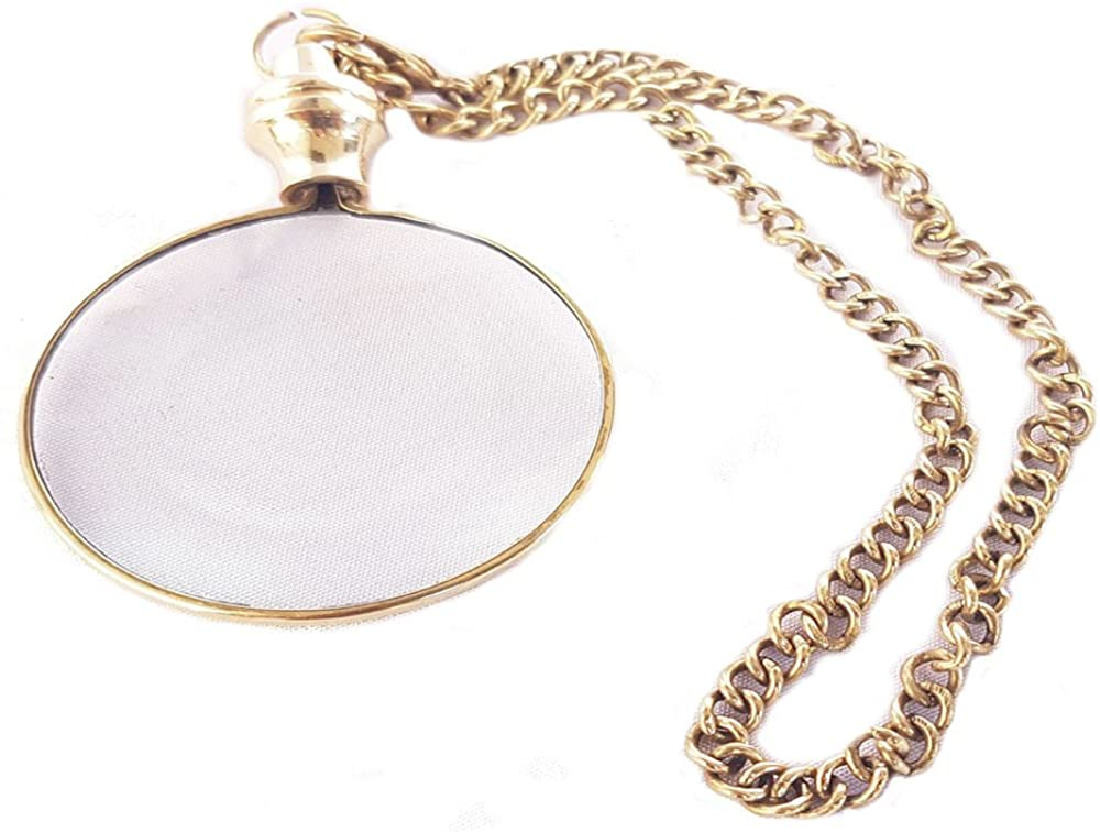 Nautical Magnifying Glass Keychain Brass Magnifying Key Chain Gift