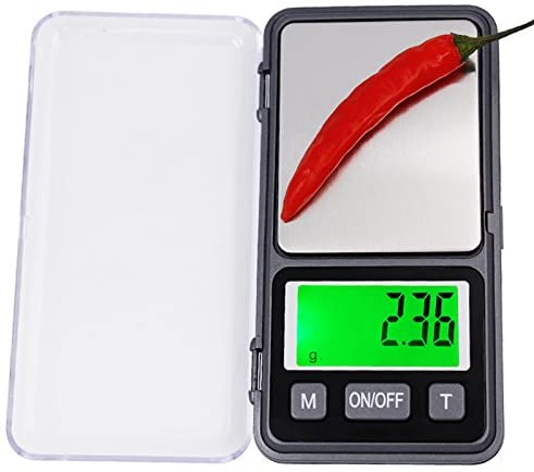 QWERTOUR 500g 0.01 Digital Scales Electronic Gram Scale Precision Pocket Lab Jewelry Weight Balance Large Screen with Backlight