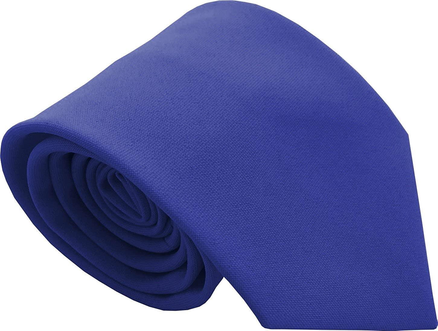 Boys Plain Neck Ties - 2 Sizes/Various Colours