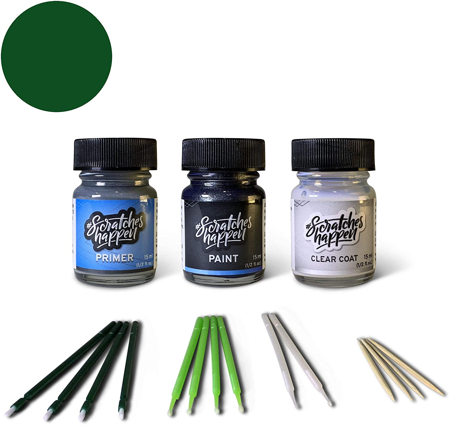 ScratchesHappen Exact-Match Touch Up Paint Kit Compatible with BMW Boston Green (275) - Bottle, Preferred