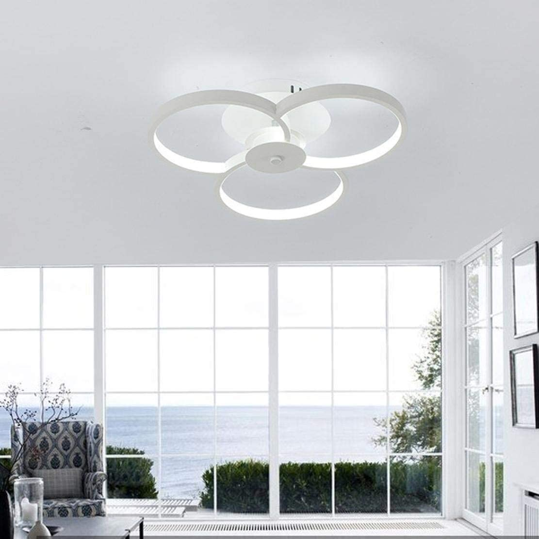 HTL Decorative Lights Led Ceiling Lamp Metal Acrylic Modern Design Warm and Romantic Creative 3-Ring Ceiling Light Indoor Decorative Lighting Fixture for Living Room Bedroom Kitchen,Stepless Dimming