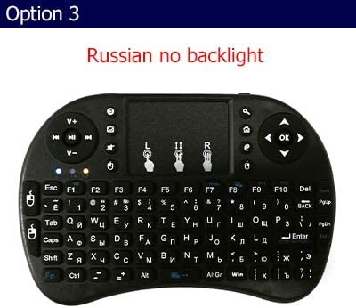 Calvas Remote Control i8 Wireless keyboard Air Mouse Touchpad backlight English Spanish Russian for choose for Android TV Box - (Color: russian no backlight)