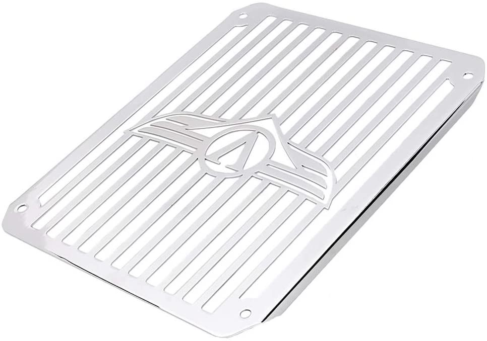 GZYF Motorcycle Chrome Radiator Cooler Guard Grille Compaitble with Kawasaki Vulcan VN800 Classic 1995-2003