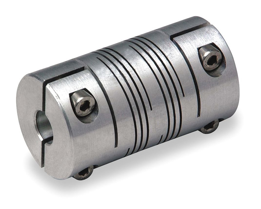 Coupling, Double Beam, Bore 1/4x3/8 In