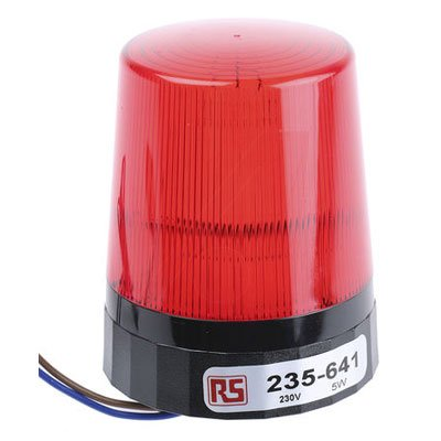RS Pro 235641 Xenon Beacon Red Flashing Surface Mount 230 Vac