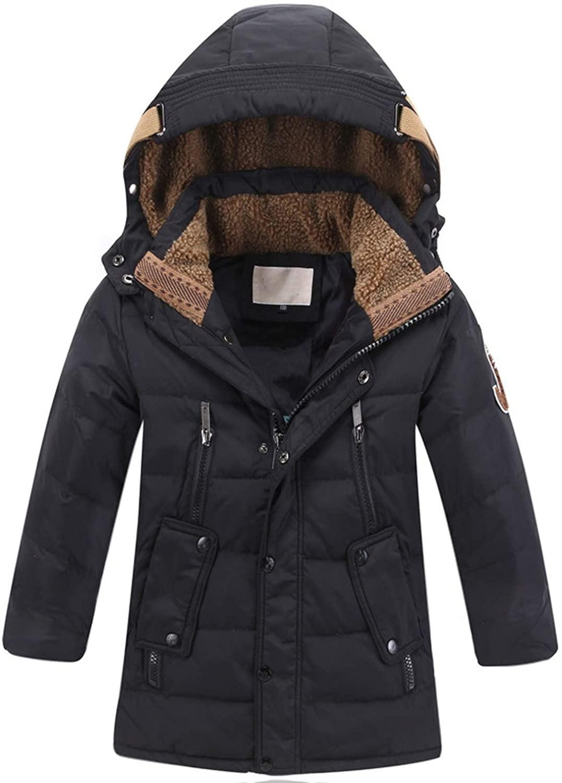 Alovelycloud Big Boys Warm Winter Duck Down Jacket for Kids Coat Thicken Outerwear Parka
