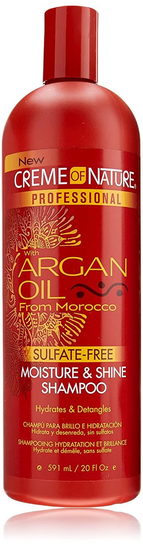 Creme of Nature Professional Argan Oil Moisture and Shine Shampoo, 20 Ounce