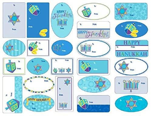 Hanukkah Icon Adhesive Pad Tags, 100 Ct. | Party Favor