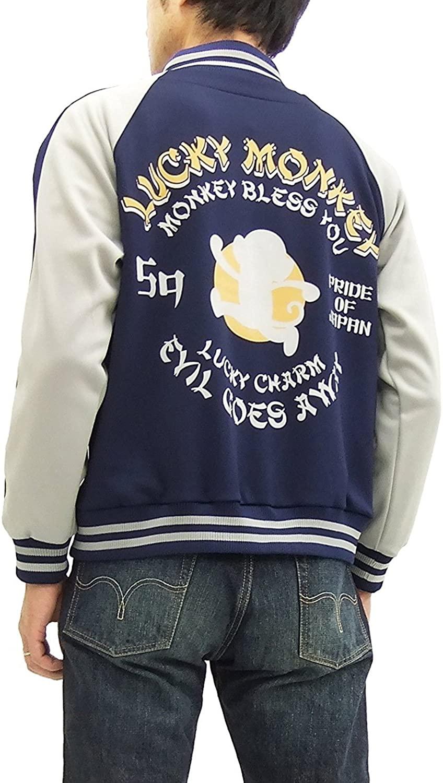 GO-COO!! Men's Fashion Zip-Up Track Jacket GJK-8038R Lucky Monkey
