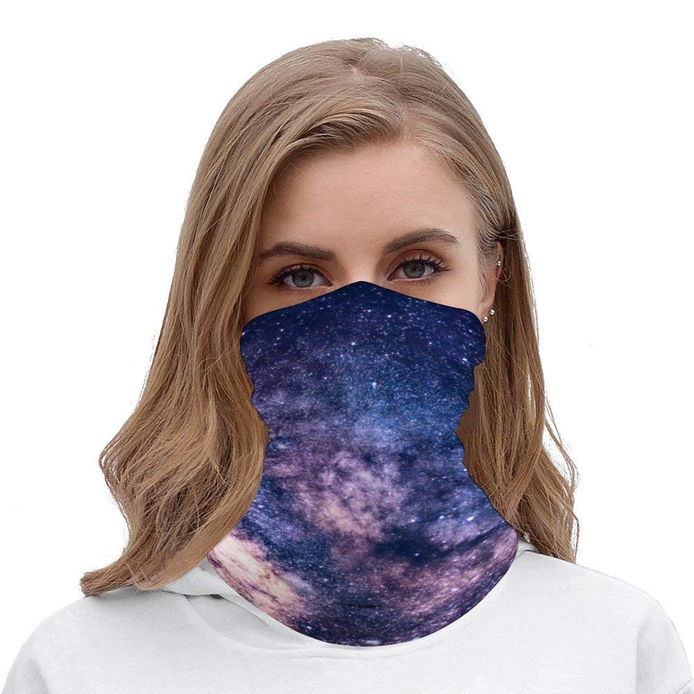 Seamless Face Mask Galaxy Space Starry Nights Face Scarf Bandanas Mask Fashion Headwear For Men And Women,Multi Function Head Scarf For Outdoors, Festivals, Sports