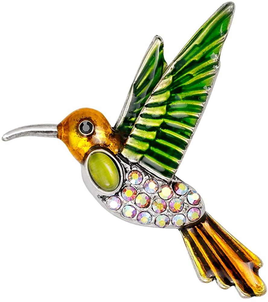 YAZILIND Fashion Bird Animal Brooch Pins Women Breastpin Corsage Girls Jewelry Gift