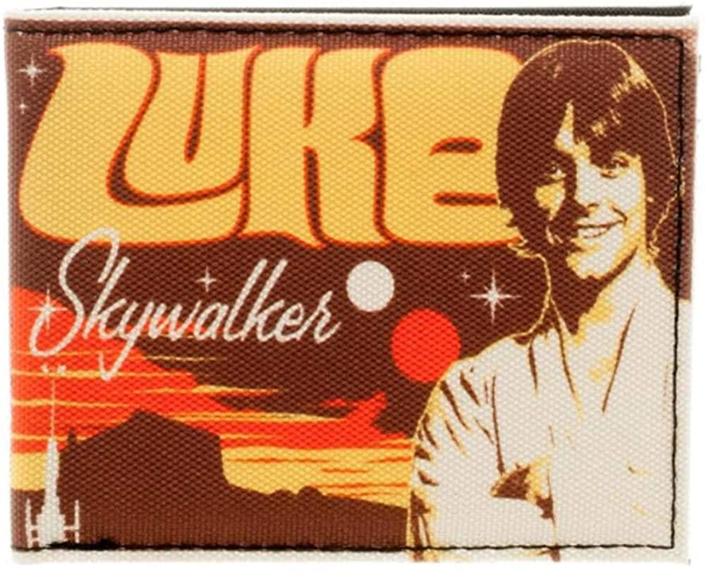 Star Wars Luke Skywalker Retro Sublimated Bifold Wallet