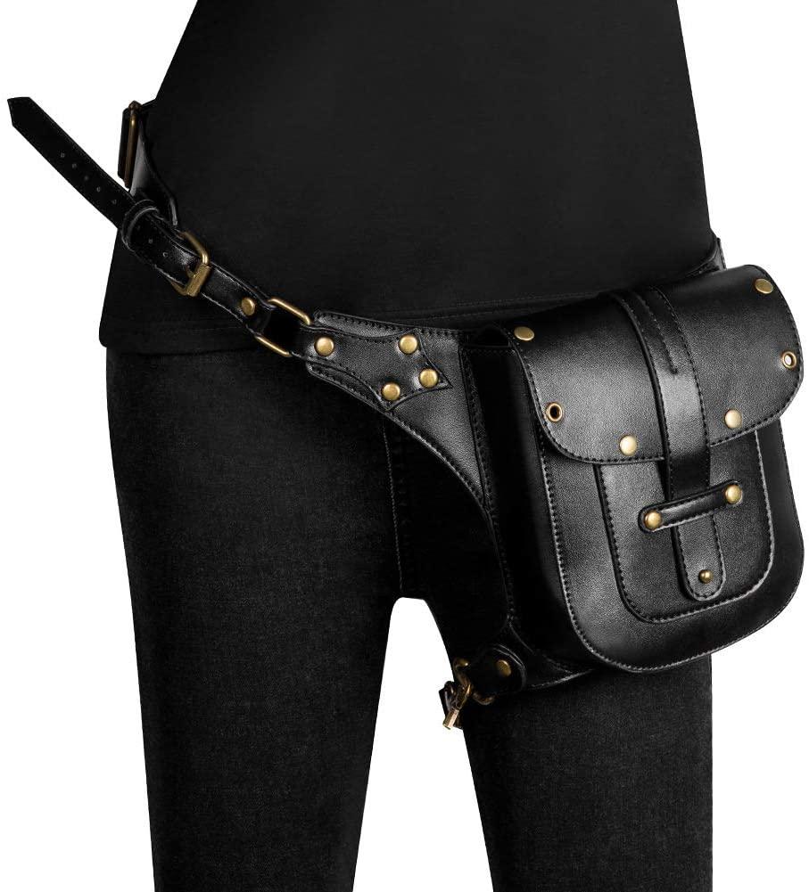 XIONGG Waterproof Waist Bag Tactical Drop Leg Bag Outdoor Bike Hiking Fanny Pack Hip Thigh Bag Pouch Shoulder Crossbody Bag