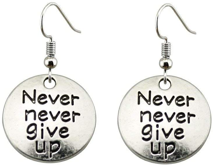 Taliyah 1 Pair Never Never Give Up Tag Drop Earrings Jewelry Earrings