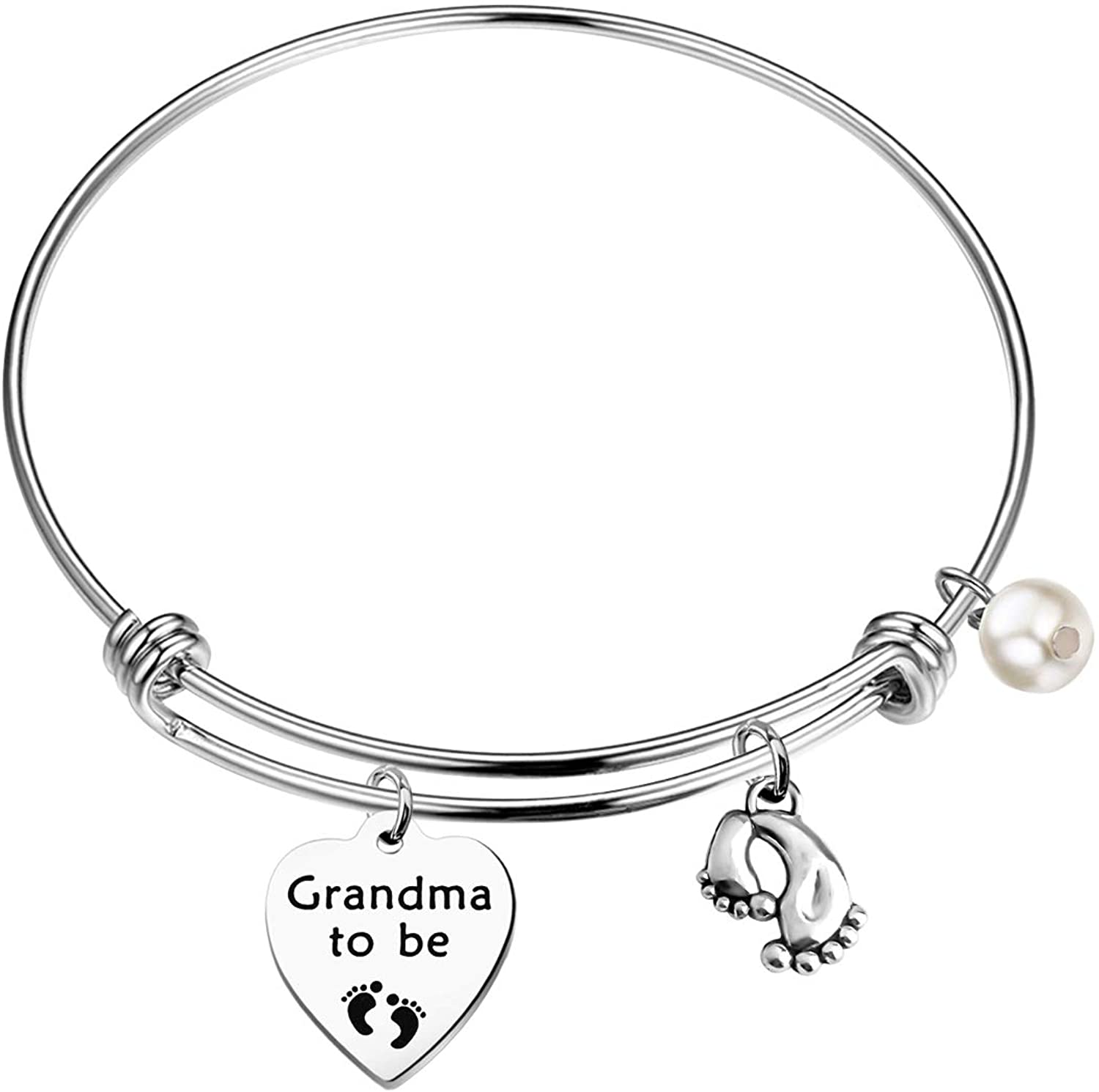 SEIRAA New Grandma Gift Grandma to Be Bracelet New Baby Gift Pregnancy Reveal Jewelry Announcement Gift for Grandmother